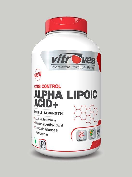 Picture of Vitrovea Alpha Lipoic Acid Plus Double Strength Insulin Mimicker 600 mg Universal Antioxidant 100 Tablets