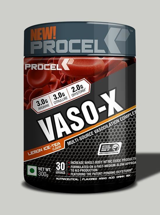 Picture of PROCEL VASO-X Advanced Nitric Oxide Booster 300g 33 servings Lemon Ice Tea