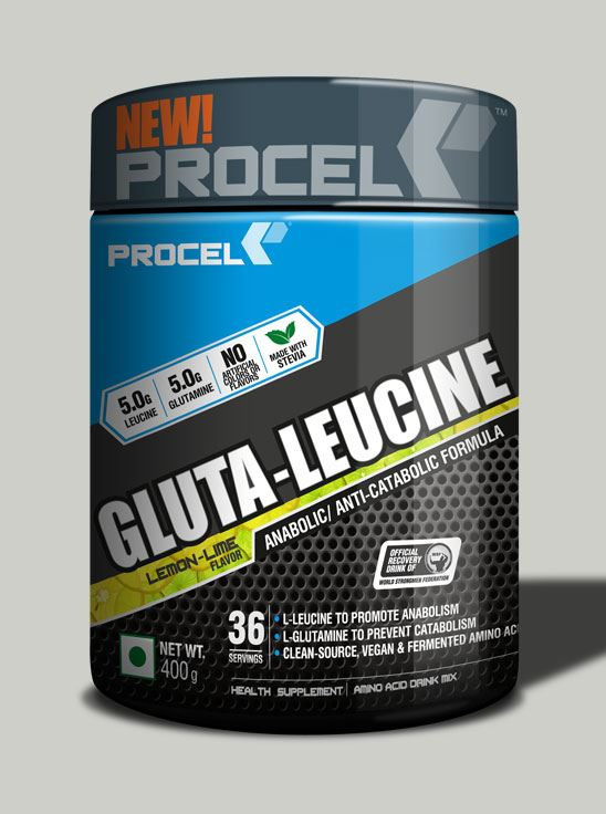 Picture of PROCEL Gluta-Leucine 36 Servings 400g Lemon Lime