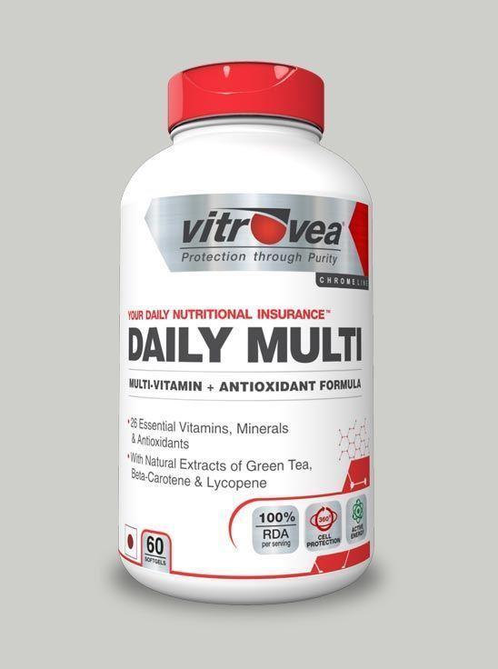 Picture of Vitrovea DAILY-MULTI Multivitamin Antioxidant w/Green Tea + Natural Extracts 60 softgels (Short Shelf Life)