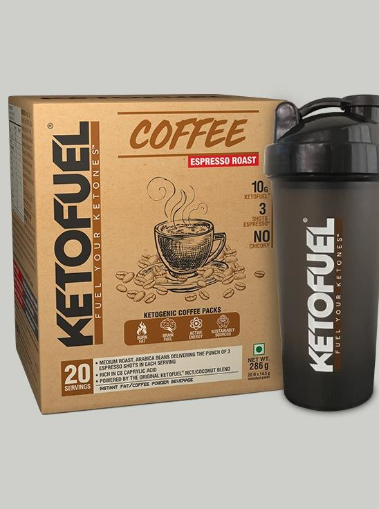 Picture of KETOFUEL® COFFEE COLD BREW Keto Coffee with Coconut & MCT Oil 20 pks/box