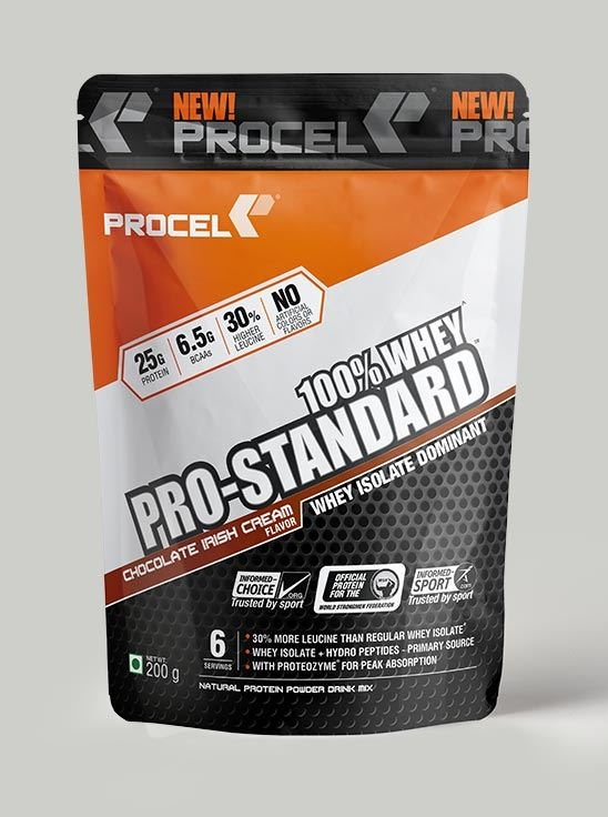 Picture of PROCEL Pro-Standard 100% Whey Trial Pack 200g Chocolate Irish Cream