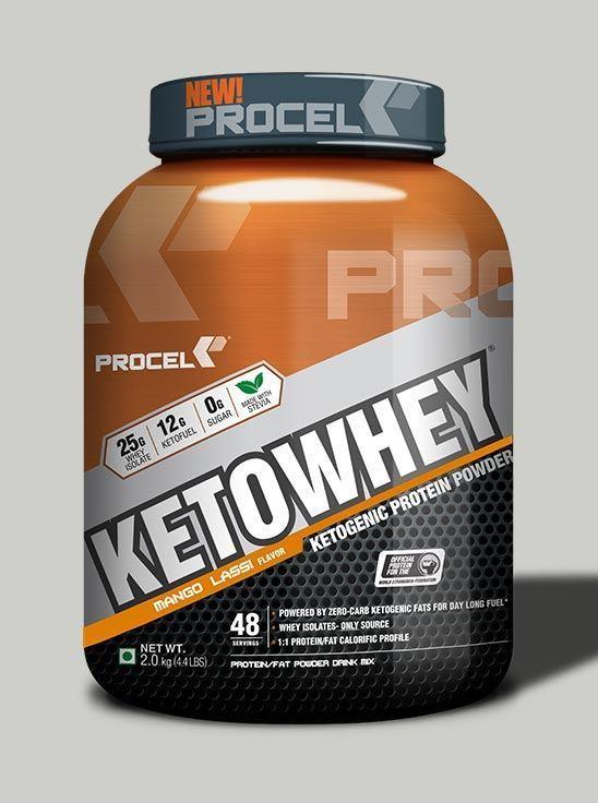 Picture of PROCEL KETOWHEY® Ketogenic Protein Powder with Ketofuel® 2kg (Mango Lassi)