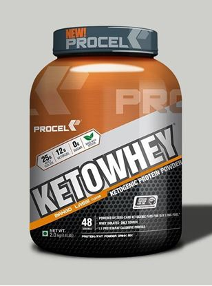 Picture of PROCEL KETOWHEY® Ketogenic Protein Powder with Ketofuel® 2kg (Mango Lassi)
