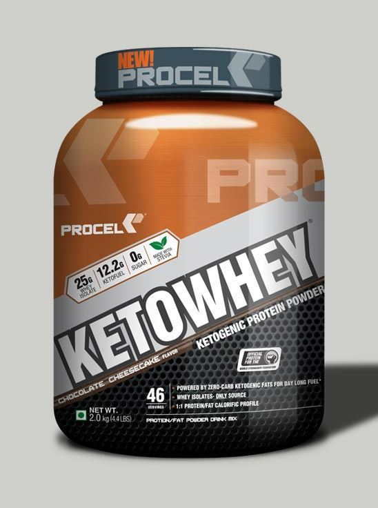 Picture of PROCEL KETOWHEY® Ketogenic Protein Powder with Ketofuel® 2kg Chocolate Cheesecake