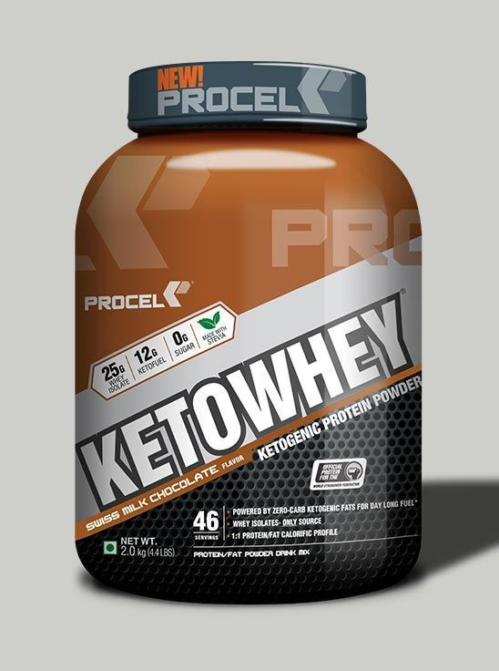 Picture of PROCEL KETOWHEY® Ketogenic Protein Powder with Ketofuel® 2kg Swiss Milk Chocolate