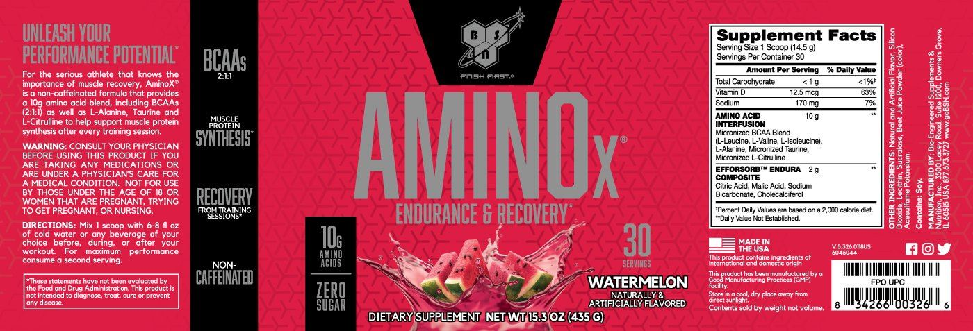 Picture of BSN Amino X Acids - Watermelon 30 Servings