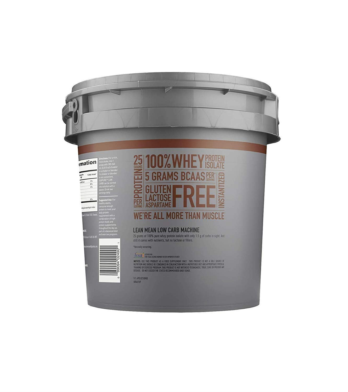Picture of Isopure - Whey Protein Isolate Chocolate 7.5 lbs