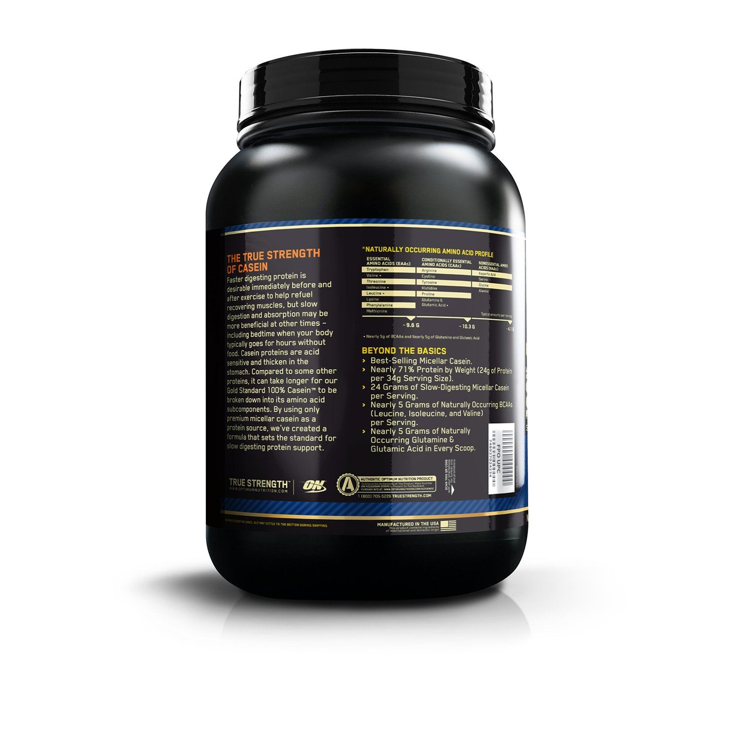 Picture of ON 100% Gold Standard Casein Chocolate 2 lbs (Short Shelf Life)