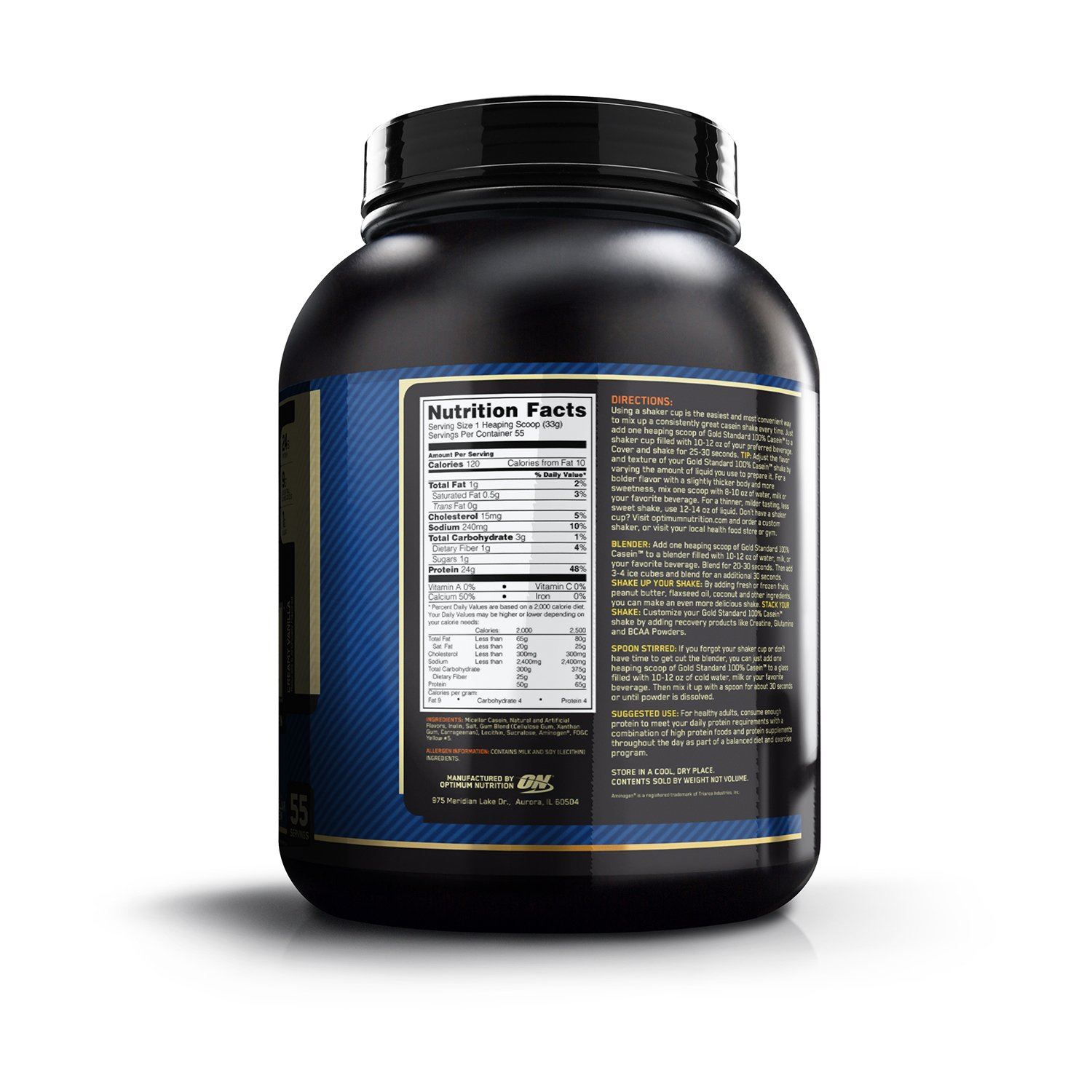 Picture of ON 100% Gold Standard Casein Chocolate 4 lbs