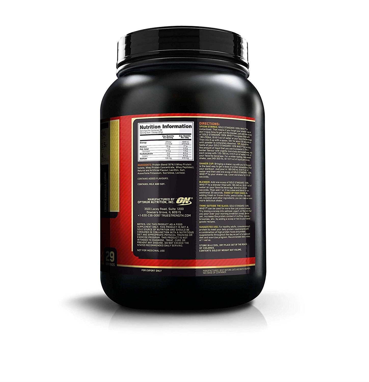 Picture of ON 100% Gold Standard Whey Protein French Vanilla 2 lbs