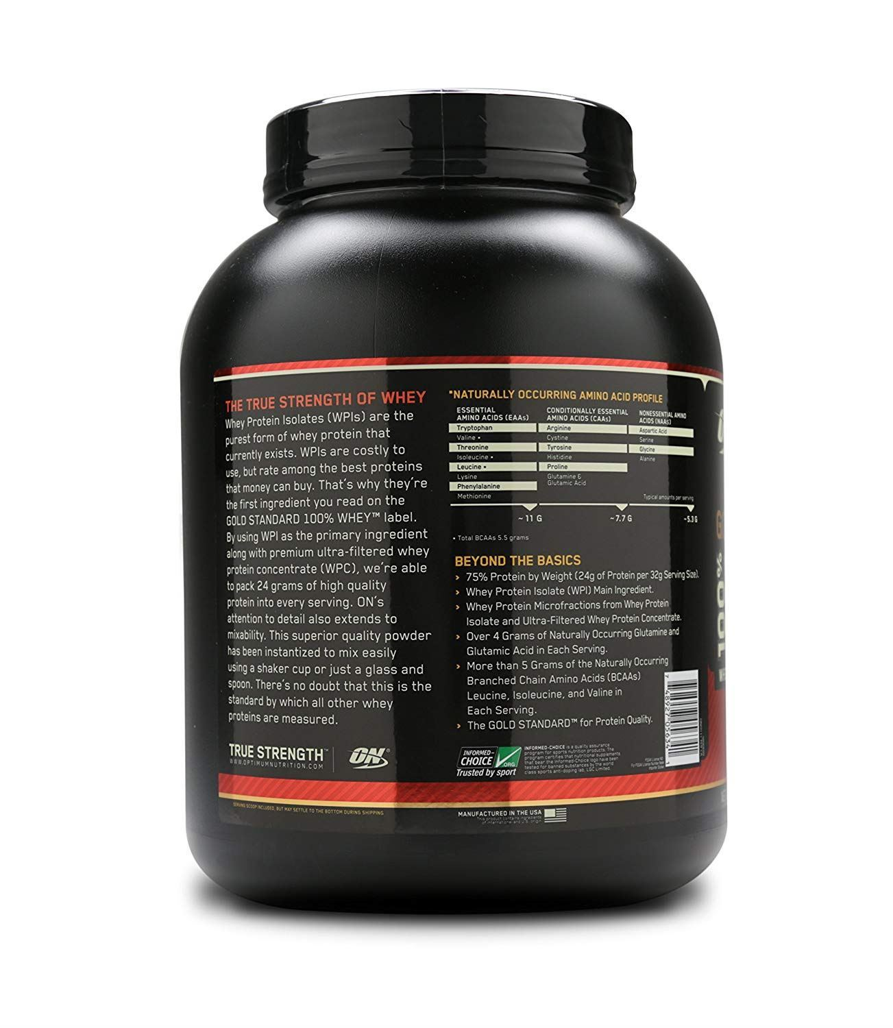 Picture of ON 100% Gold Standard Whey Protein Extreme Milk Chocolate 5 lbs