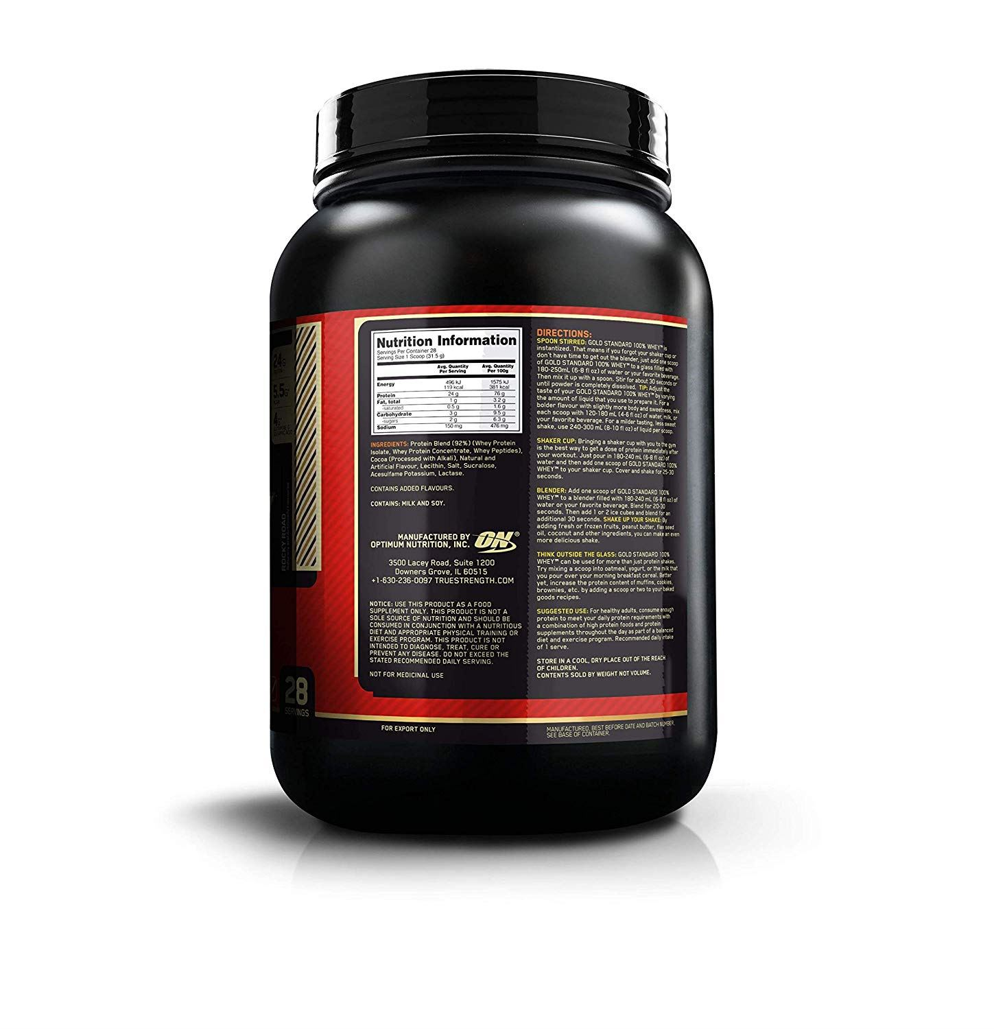 Picture of ON 100% Gold Standard Whey Protein Rocky Road 2 lbs