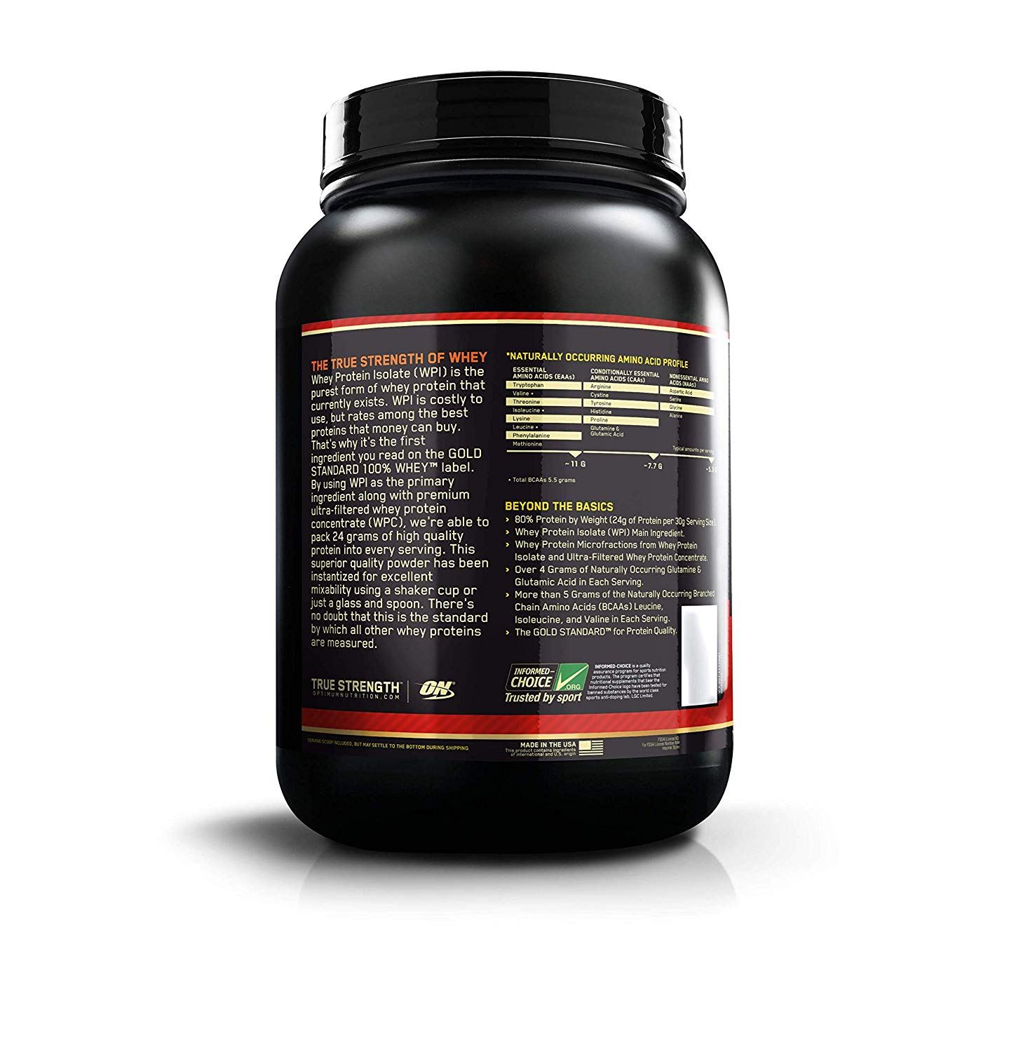 Picture of ON 100% Gold Standard Whey Protein Strawberry Banana 2 lbs