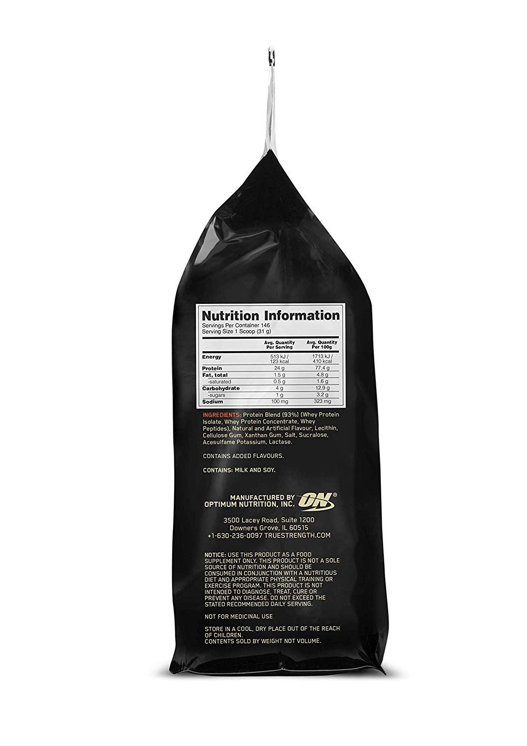 Picture of ON 100% Gold Standard Whey Protein Vanilla Ice Cream 10 lbs, Expiry:01-07-2021