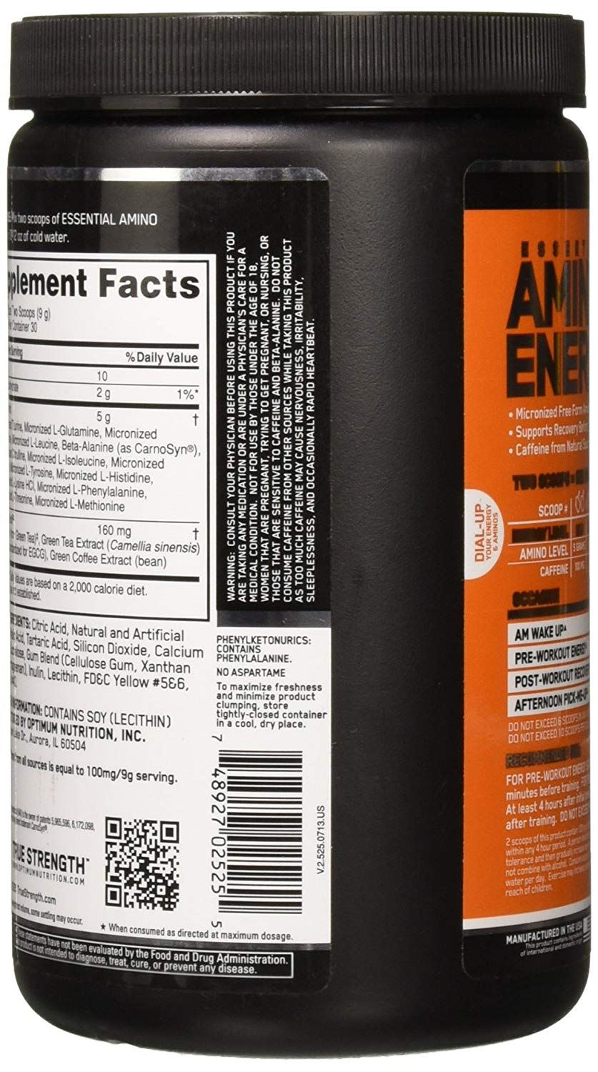 Picture of ON Amino Energy Orange 30 Servings