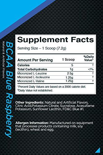 Picture of Rule 1 BCAA -  Blue Raspberry 30 Servings