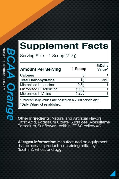 Picture of Rule 1 BCAA Orange 60 Servings
