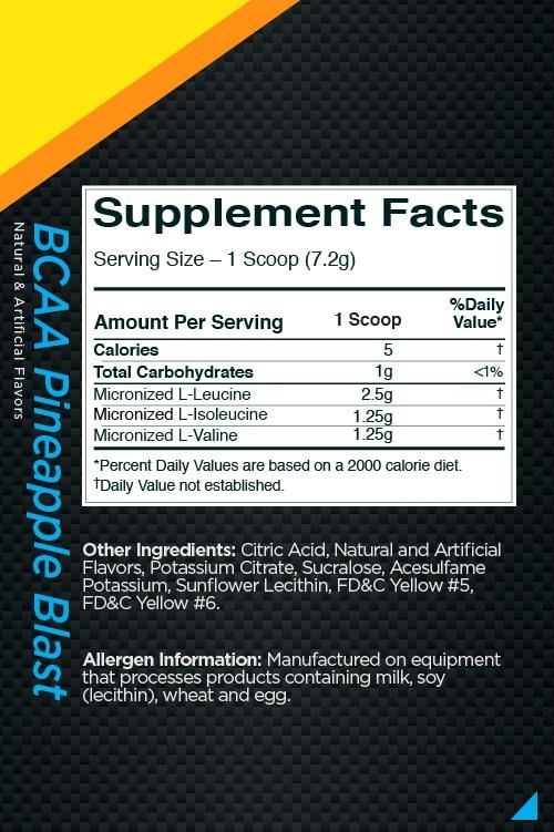 Picture of Rule 1 BCAA Pineapple Blast 30 Servings