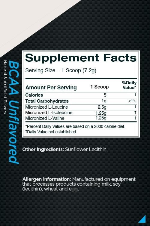 Picture of Rule 1 BCAA Unflavored 30 Servings