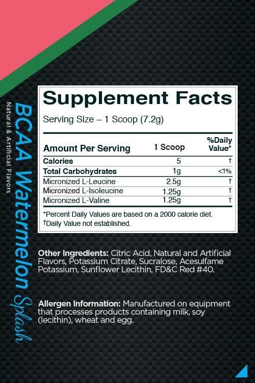 Picture of Rule 1 BCAA Watermelon Splash 30 Servings