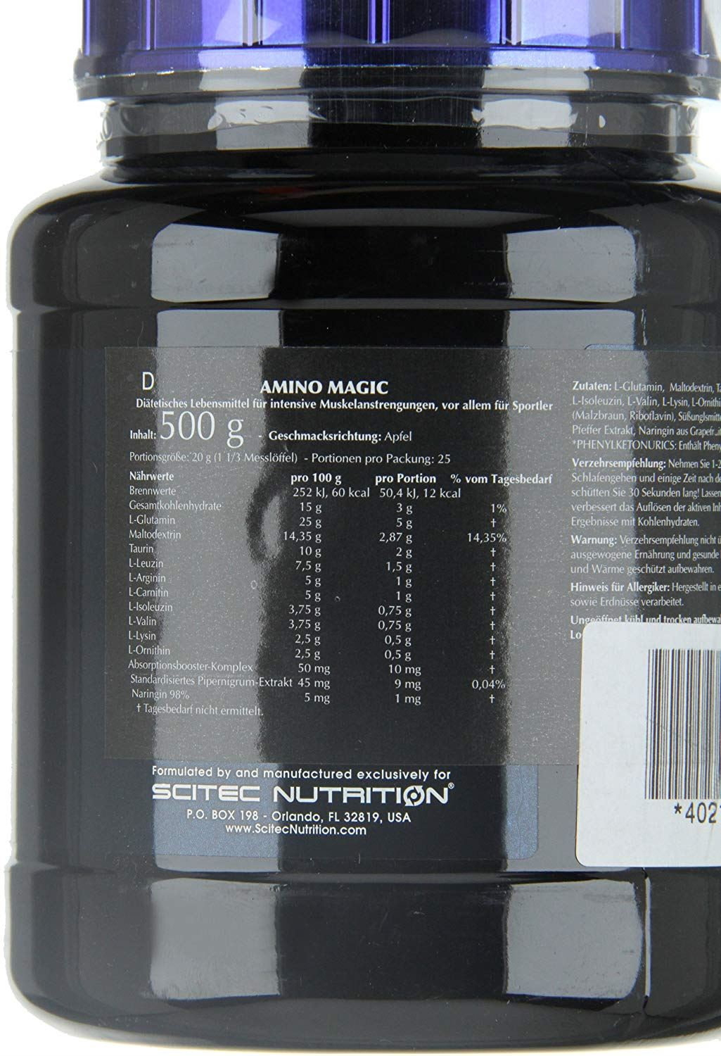 Picture of Scitec Amino Magic Apple 500 g