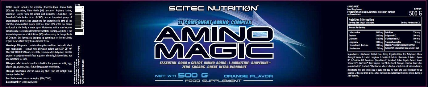 Picture of Scitec Amino Magic Orange 500 g