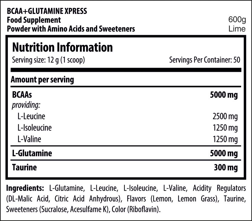 Picture of Scitec BCAA+ Glutamine Xpress Lime 50 Servings