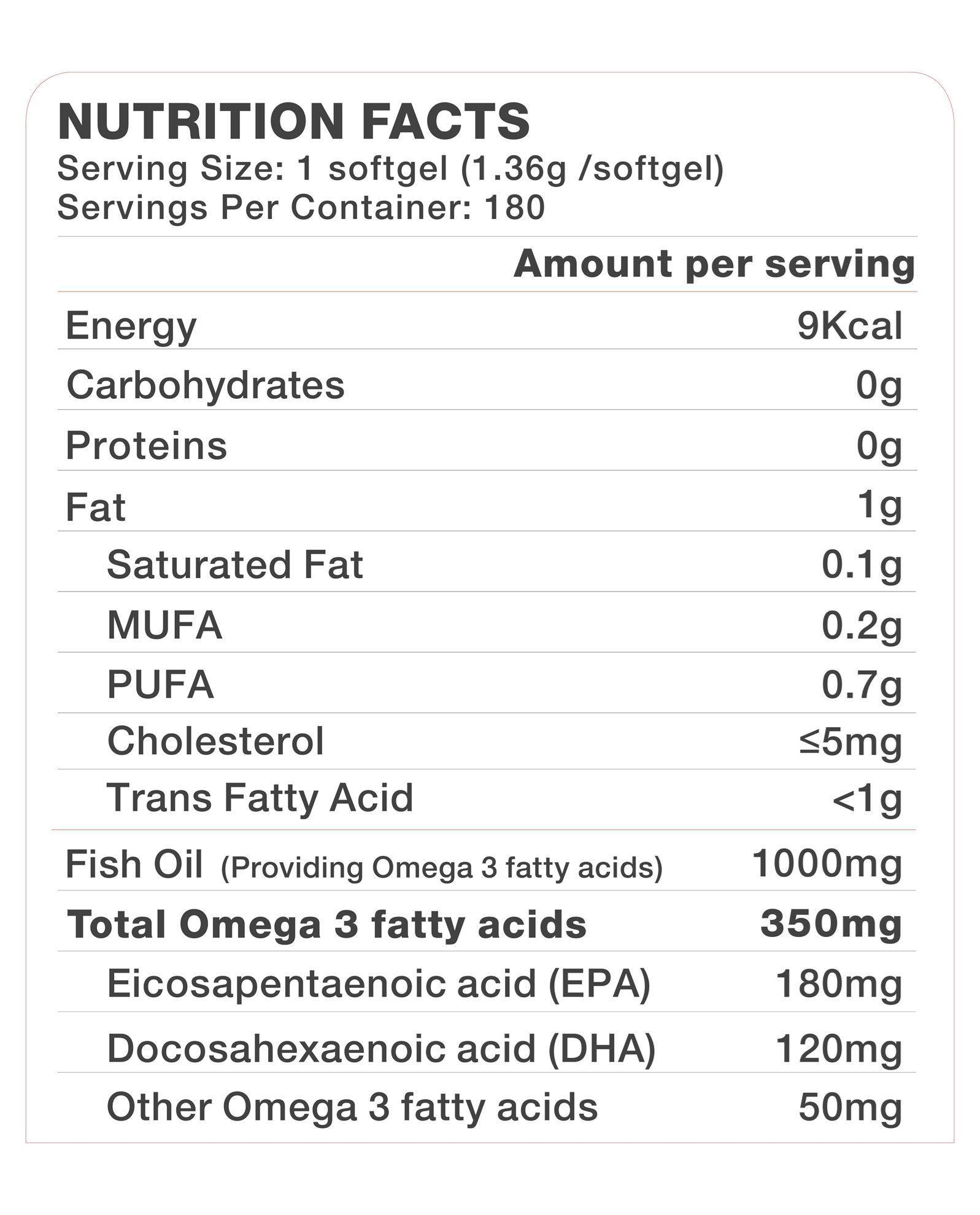 Picture of Vitrovea Deep Sea Fish Oil 1000mg Natural TG Form (180EPA 120DHA) 180ct