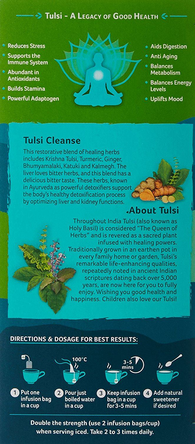 Picture of Organic India-  Tulsi Cleanse Tea  25 Tea Bags