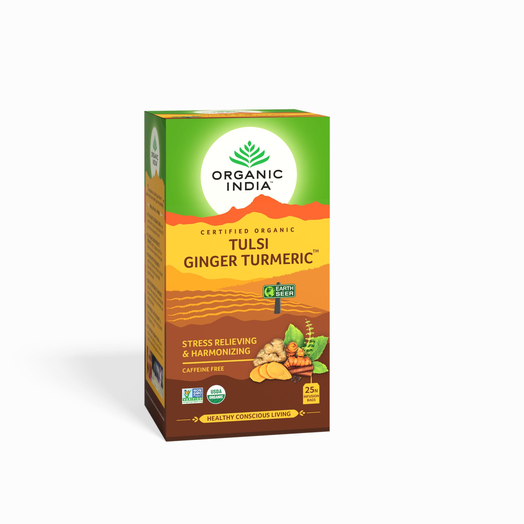 Picture of Organic India-  Tulsi Ginger Turmeric  25 Tea Bags