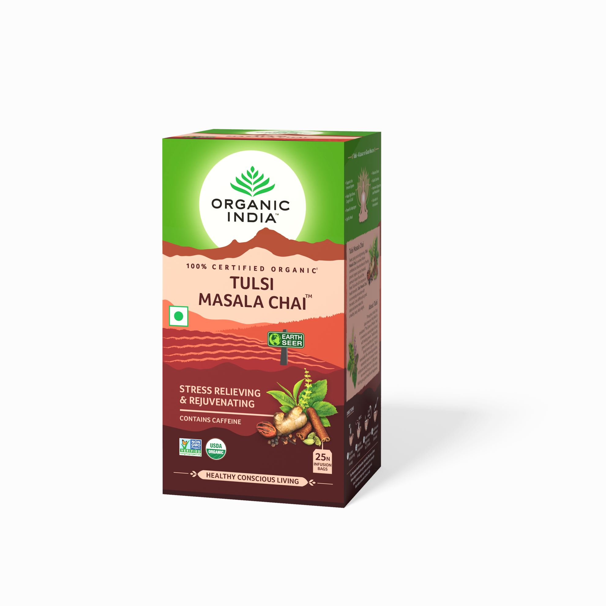 Picture of Organic India-  Tulsi Masala Chai 25 Tea Bags