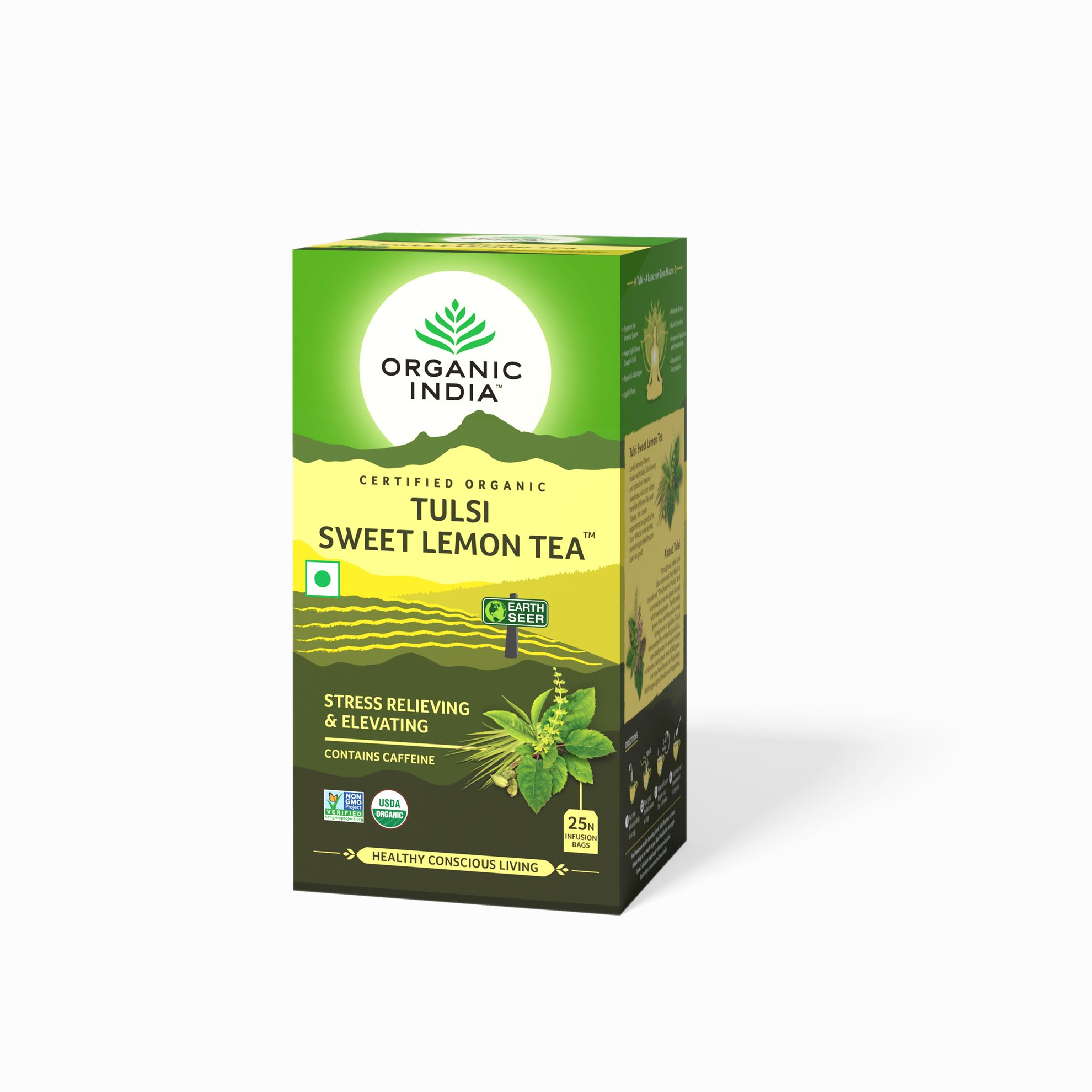 Picture of Organic India-  Tulsi Sweet Lemon  25 Tea Bags