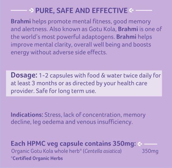Picture of Organic India- Brahmi 60 Capsules