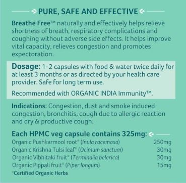Picture of Organic India- Breathe Free 60 Capsules