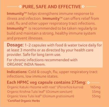 Picture of Organic India- Immunity 60 Capsules