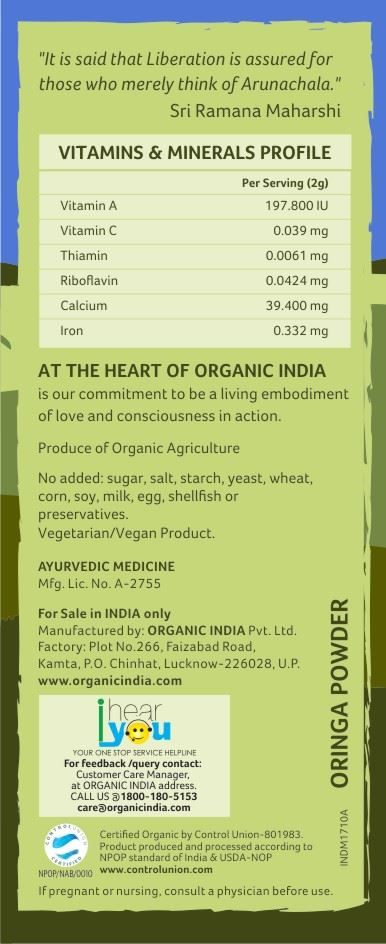 Picture of Organic India- Moringa Powder 100 Grams