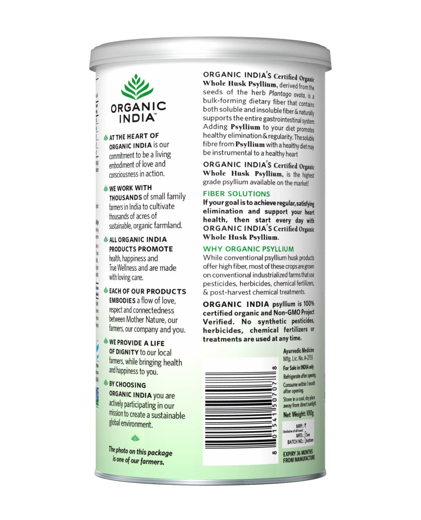 Picture of Organic India- Psyllium Husk 100 Grams