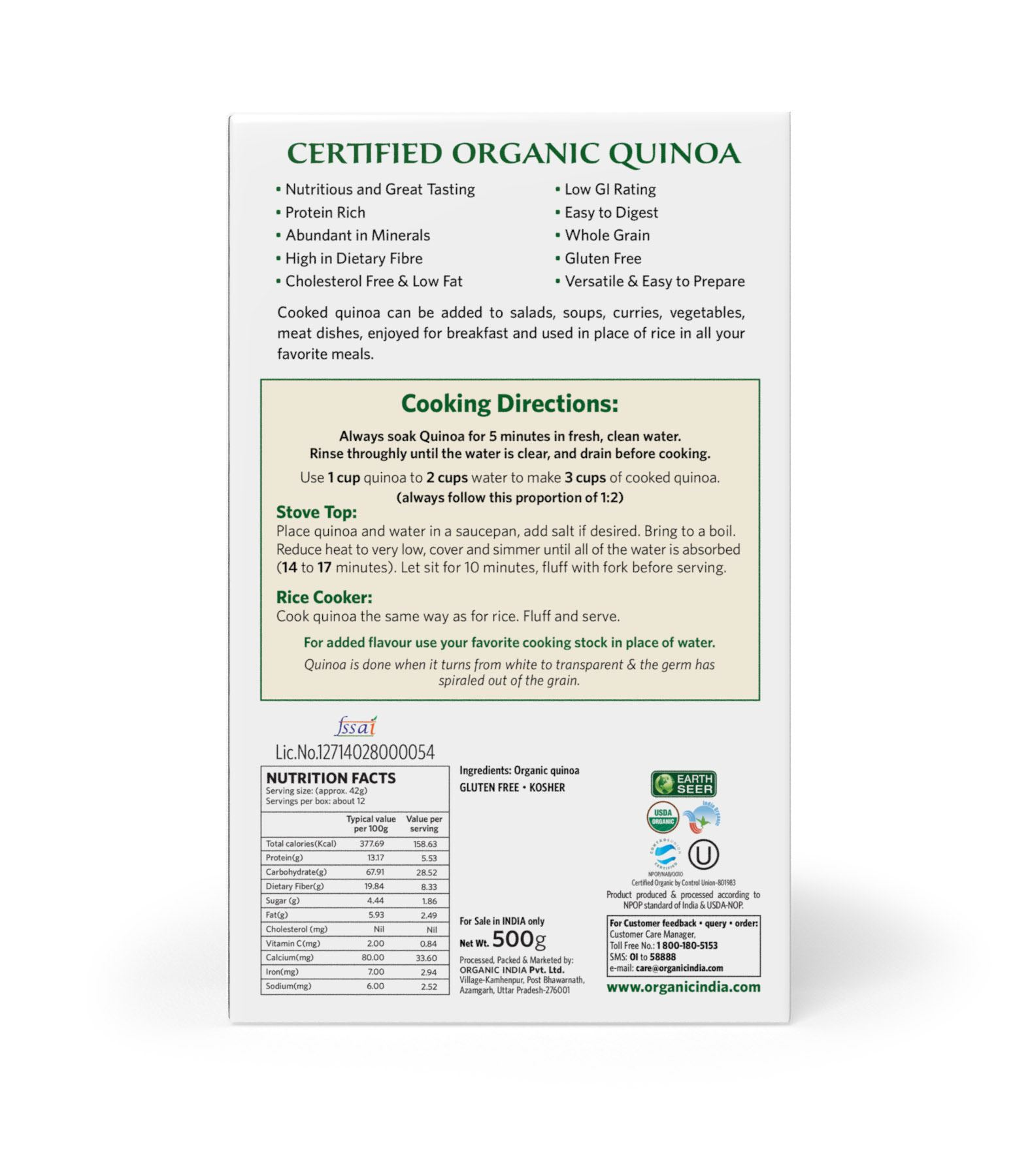 Picture of Organic India- Quinoa 500 Grams