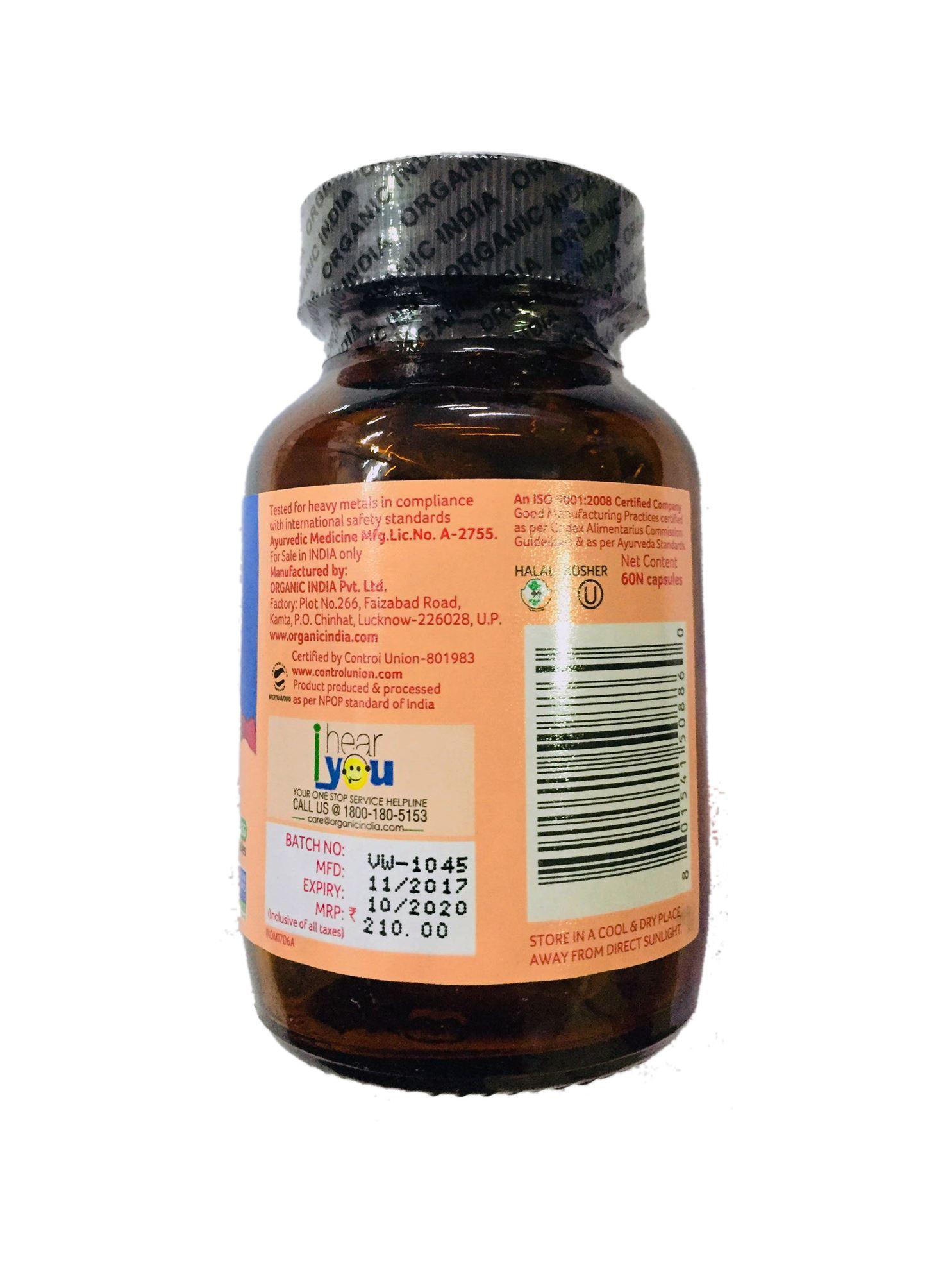 Picture of Organic India- Sugar Balance 60 Capsules