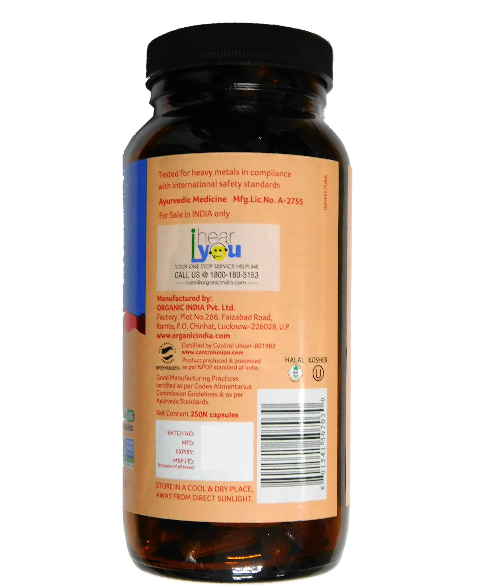 Picture of Organic India- Vitality 250 Capsules