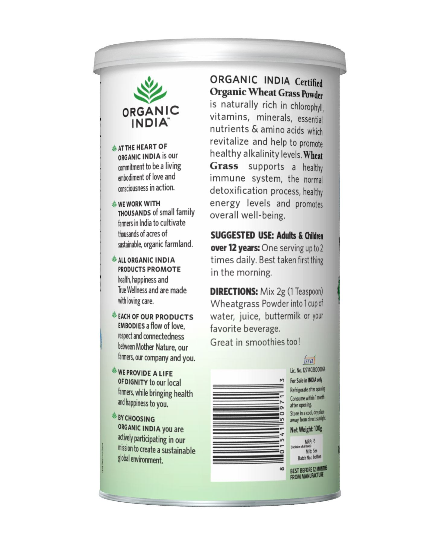 Picture of Organic India- Wheat Grass 100 Grams