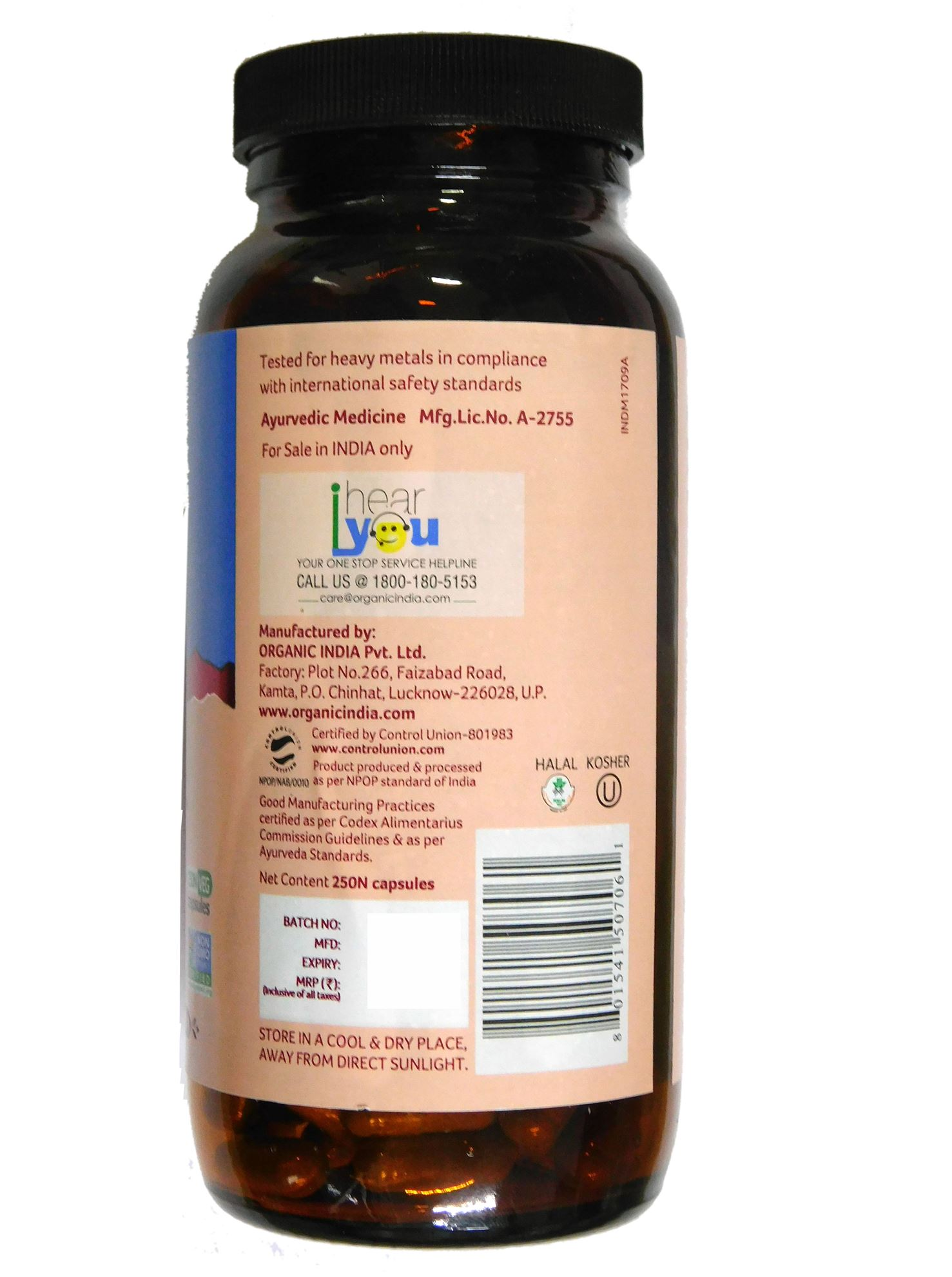 Picture of Organic India- WWB 250 Capsules