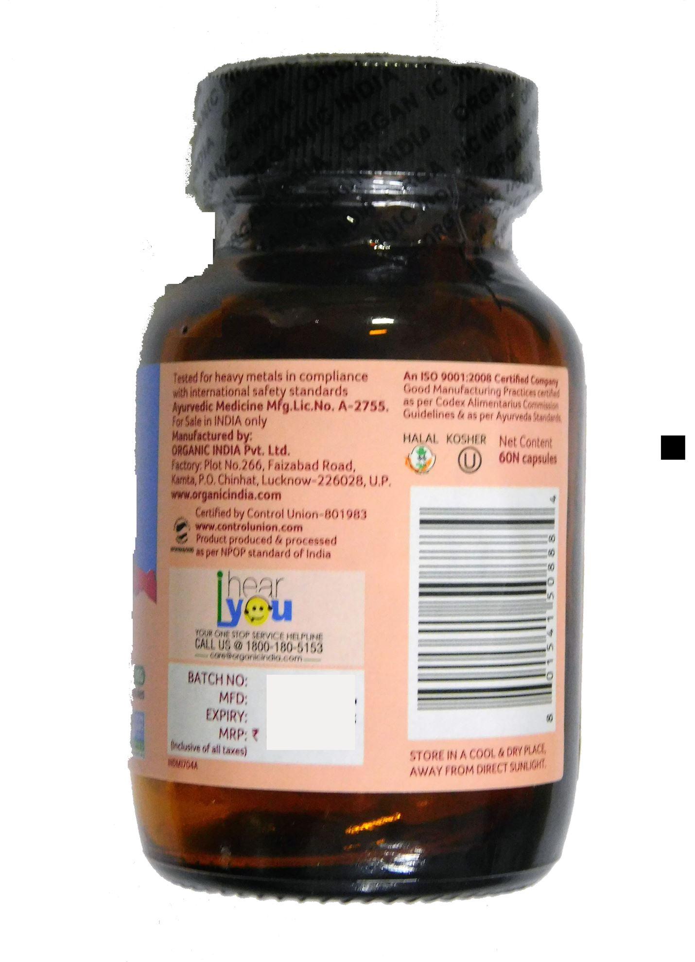 Picture of Organic India- WWB 60 Capsules