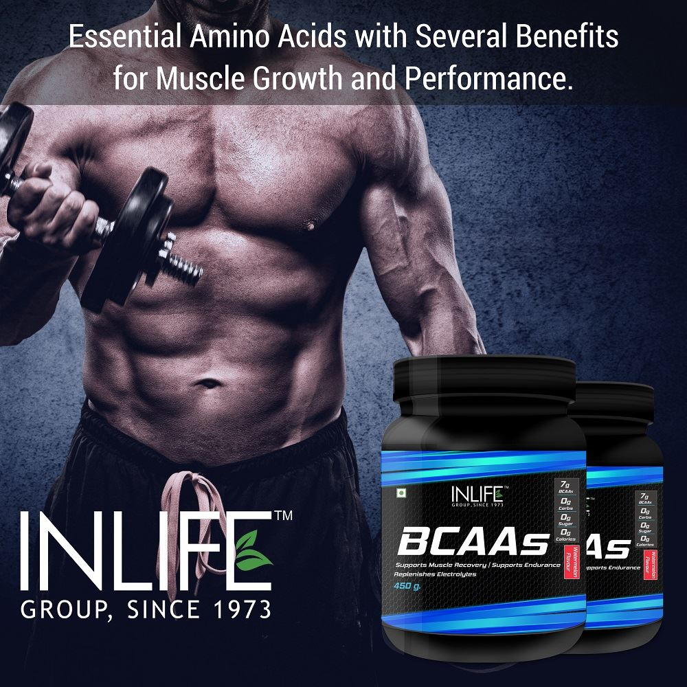 Picture of INLIFE- BCAA Branched Chain Amino Acid 450 gm Watermelon
