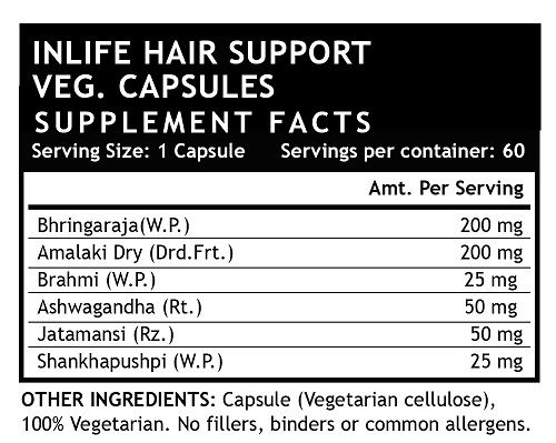 Picture of INLIFE- Hair Support Supplement 60 Veg Caps