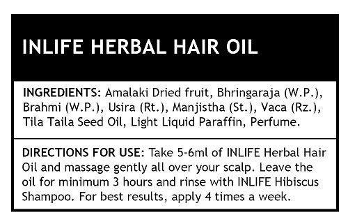 Picture of INLIFE- Herbal Hair Oil 200ml Deep Nourishment Of Hair Roots