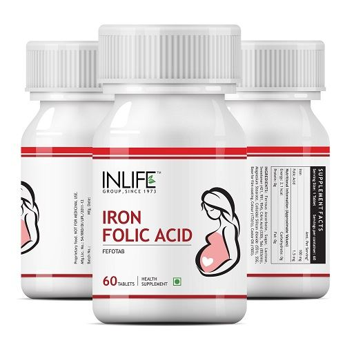 Picture of INLIFE- Iron Folic Acid Prenatal Health Of Women 60 Tabs