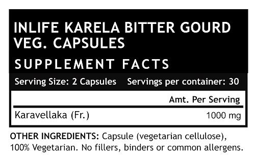 Picture of INLIFE- Karela 500 mg 60 Caps