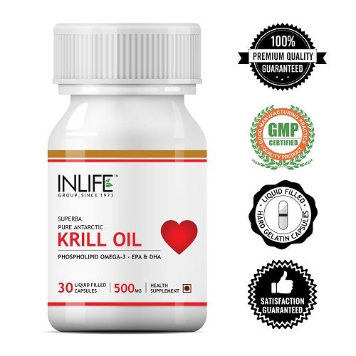 Picture of INLIFE- Krill Oil Phospholipid Omega 3 500mg 30 Caps
